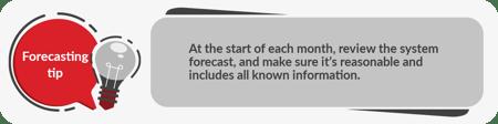 Forecasting tip 5